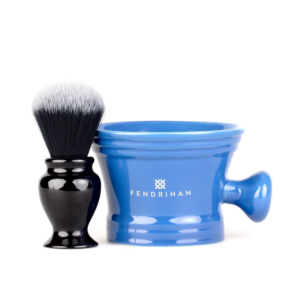 Fendrihan Synthetic Shaving Brush and Moderno Apothecary Shaving Mug, Save $10