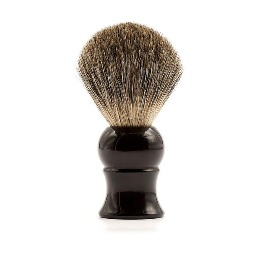 Fendrihan Pure Badger Shaving Brush, Black Handle