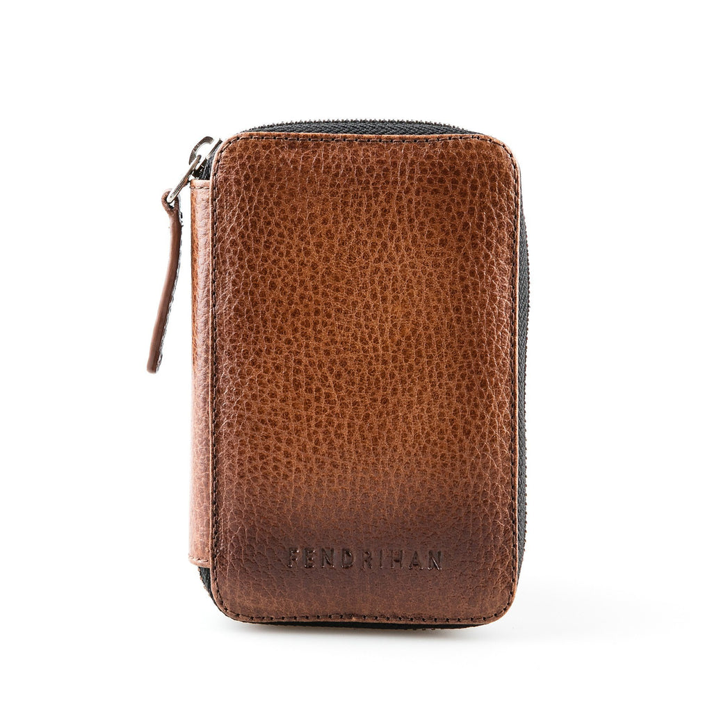 Fendrihan Leather Travel Case for Safety Razor Razor Case Fendrihan Light Brown - Pebbled