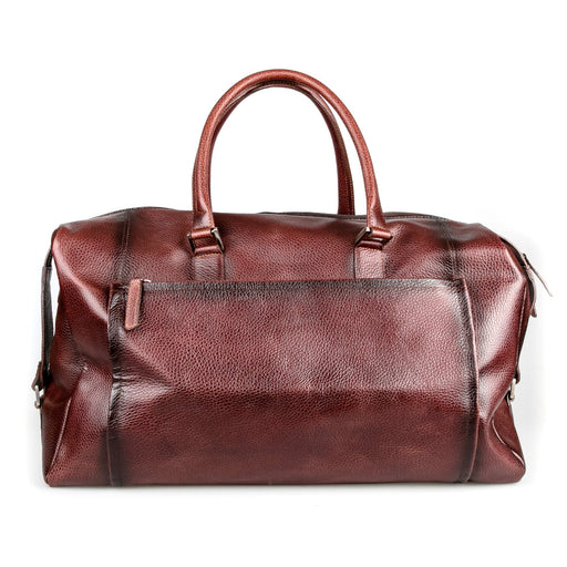 Fendrihan Pebbled Leather Travel Bag, Brandy