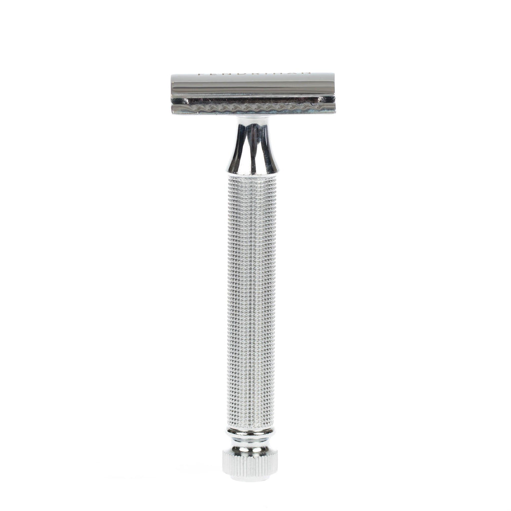 Fendrihan Double Edge Safety Razor, Square Knurled Handle