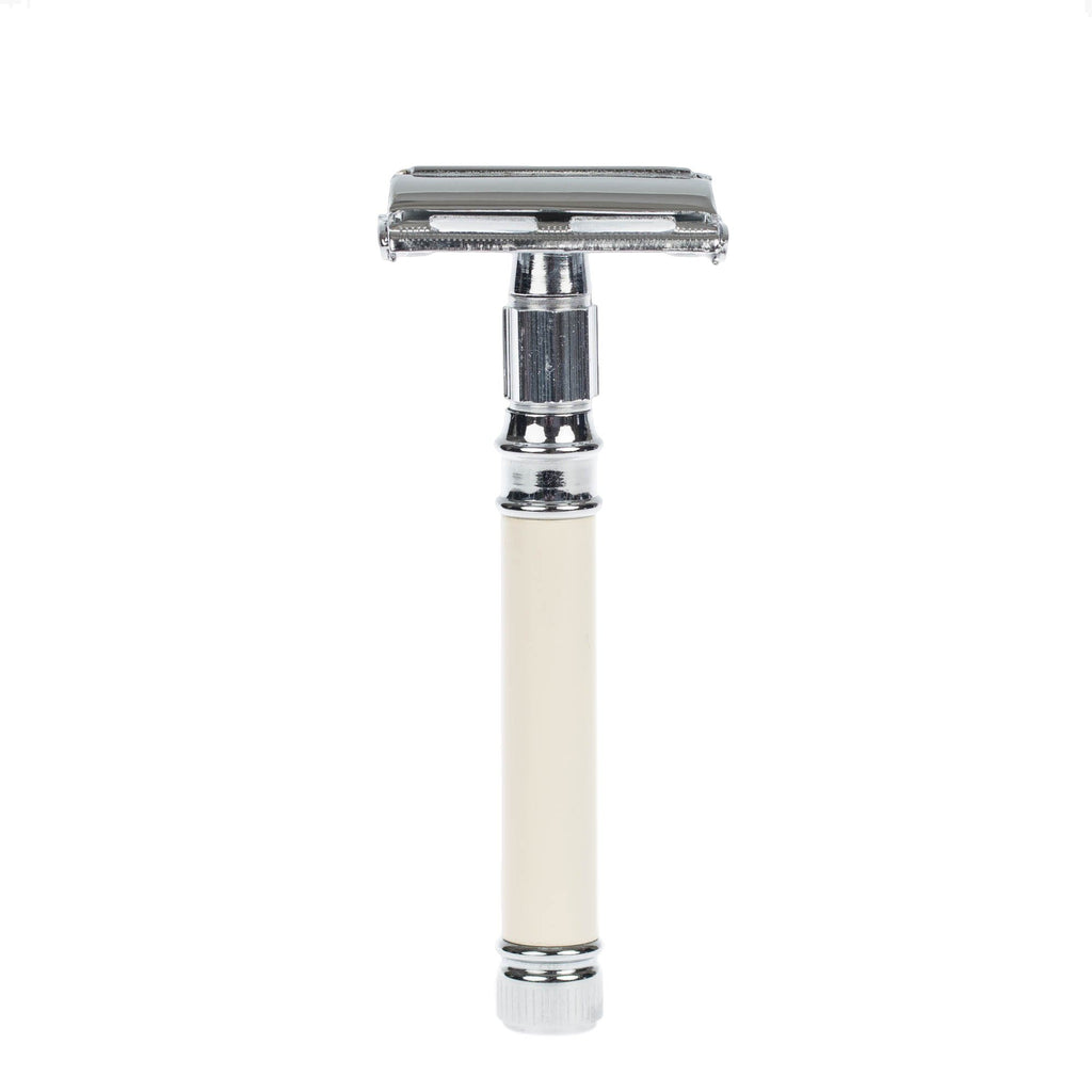 Fendrihan Butterfly Safety Razor, Faux Ivory Handle