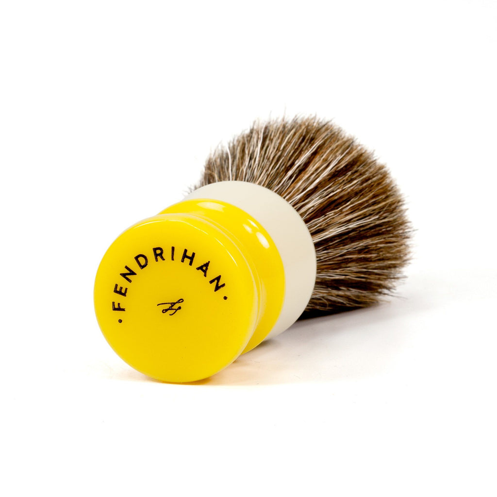 Fendrihan Horse Hair Shaving Brush, Two-Tone Handle Horse Bristles Shaving Brush Fendrihan