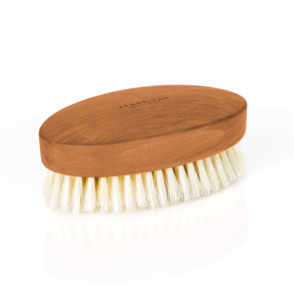 Men's Pearwood Military Hairbrush with Soft Light Bristles - Made in Germany Hair Brush Fendrihan