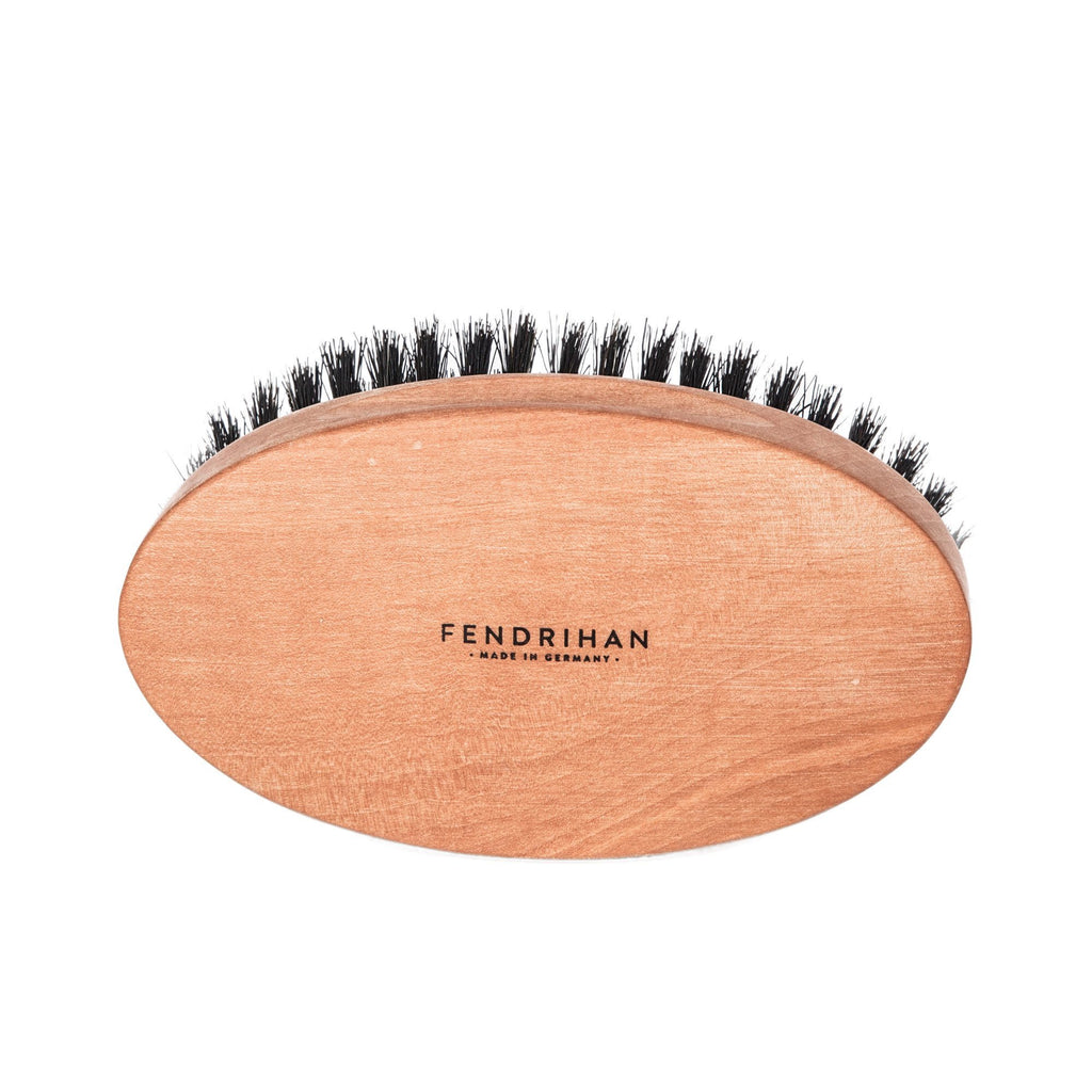 Men's Pearwood Military Hairbrush with Pure Soft or Wild Boar Bristles - Made in Germany - Fendrihan Canada - 1