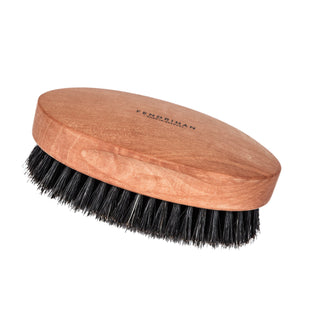 Men's Pearwood Military Hairbrush with Pure Soft or Wild Boar Bristles - Made in Germany Hair Brush Fendrihan