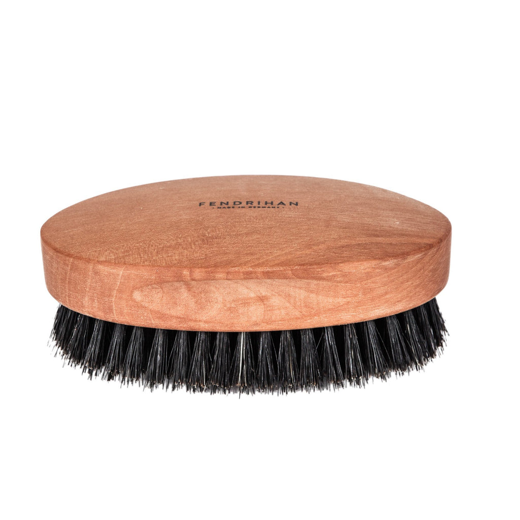 Men's Pearwood Military Hairbrush with Pure Soft or Wild Boar Bristles - Made in Germany - Fendrihan Canada - 4
