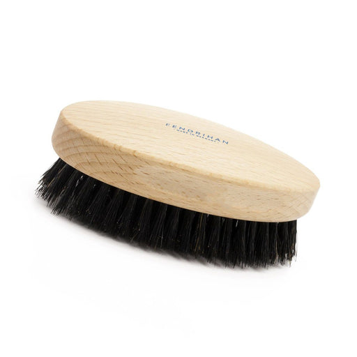 Men's Beechwood Military Hairbrush with Pure Soft or Wild Boar Bristles - Made in Germany