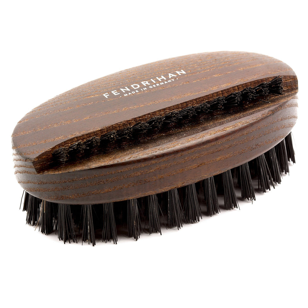 Thermowood Boar Bristle Nail Brush with Light or Dark Bristles - Made in Germany Nail Brush Fendrihan Black