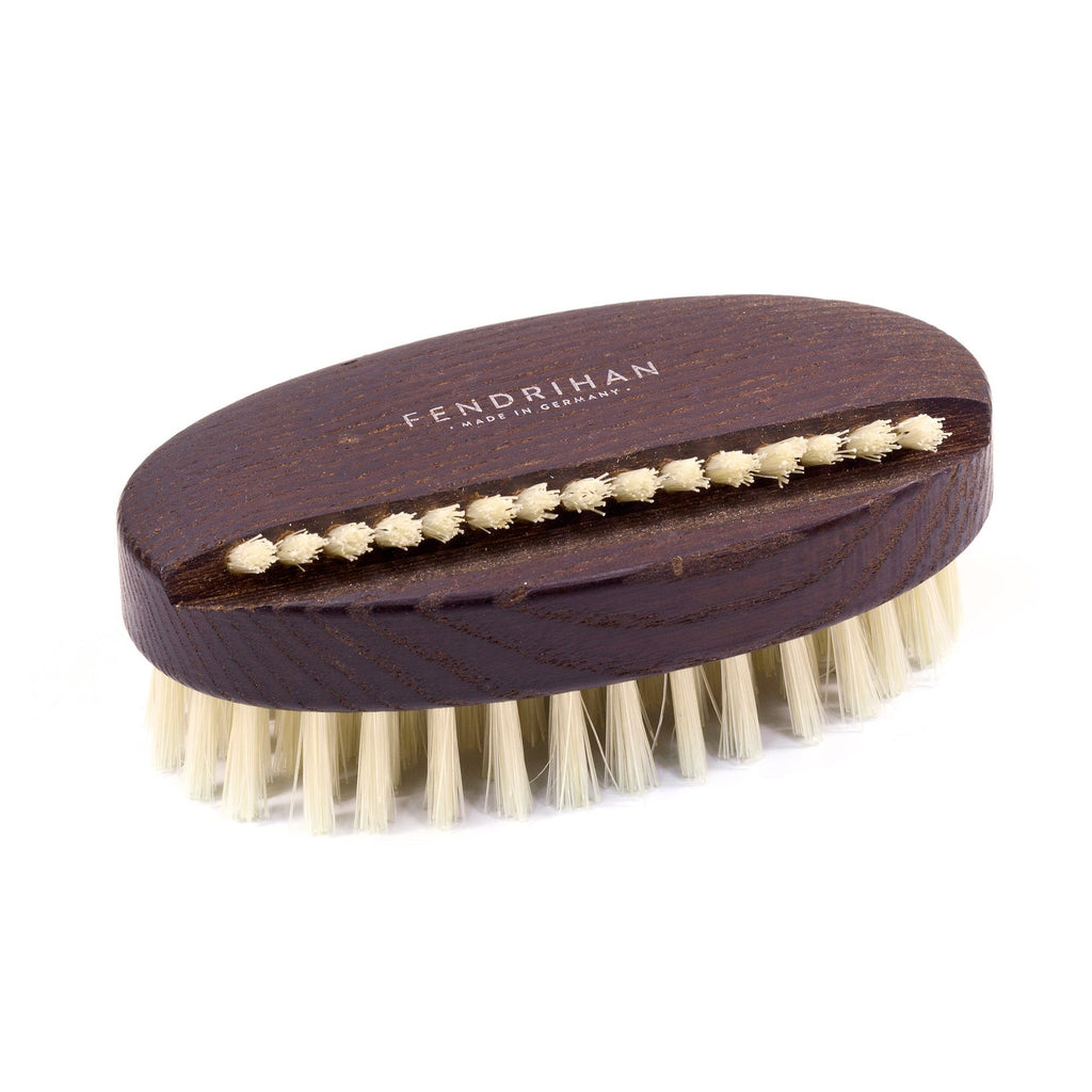 Thermowood Boar Bristle Nail Brush with Light or Dark Bristles - Made in Germany Nail Brush Fendrihan Light