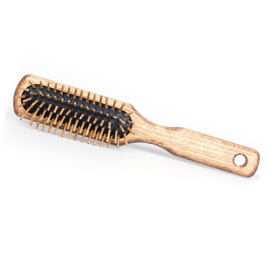 Fendrihan Rectangular Olivewood Pneumatic Brush with Wooden Bristles – Made in Germany