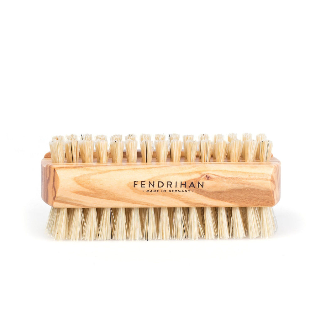 Fendrihan Dual-Sided Olivewood Nail Brush with Pure Natural Bristles - Made in Germany Nail Brush Fendrihan