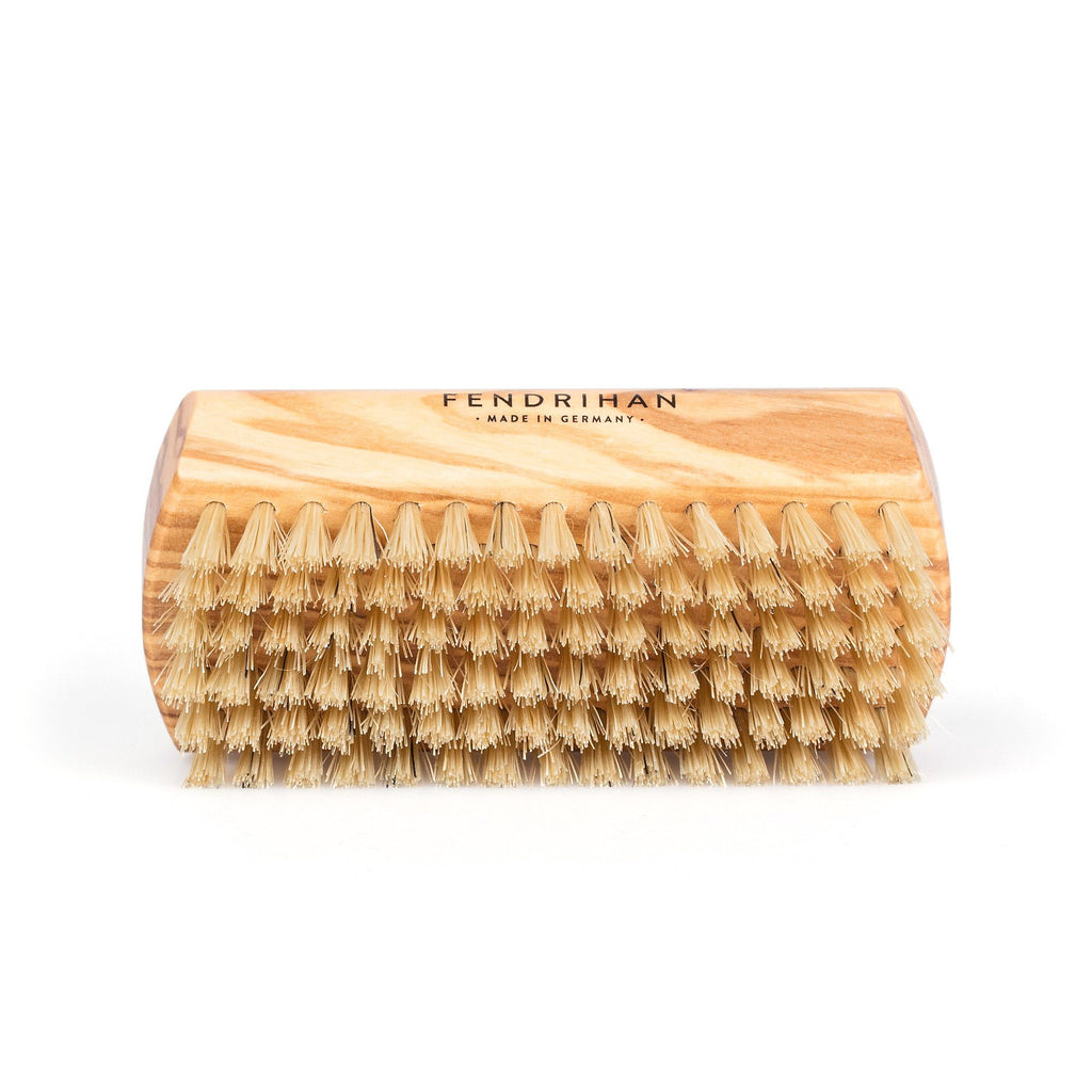 Fendrihan Dual-Sided Olivewood Nail Brush with Pure Natural Bristles - Made in Germany