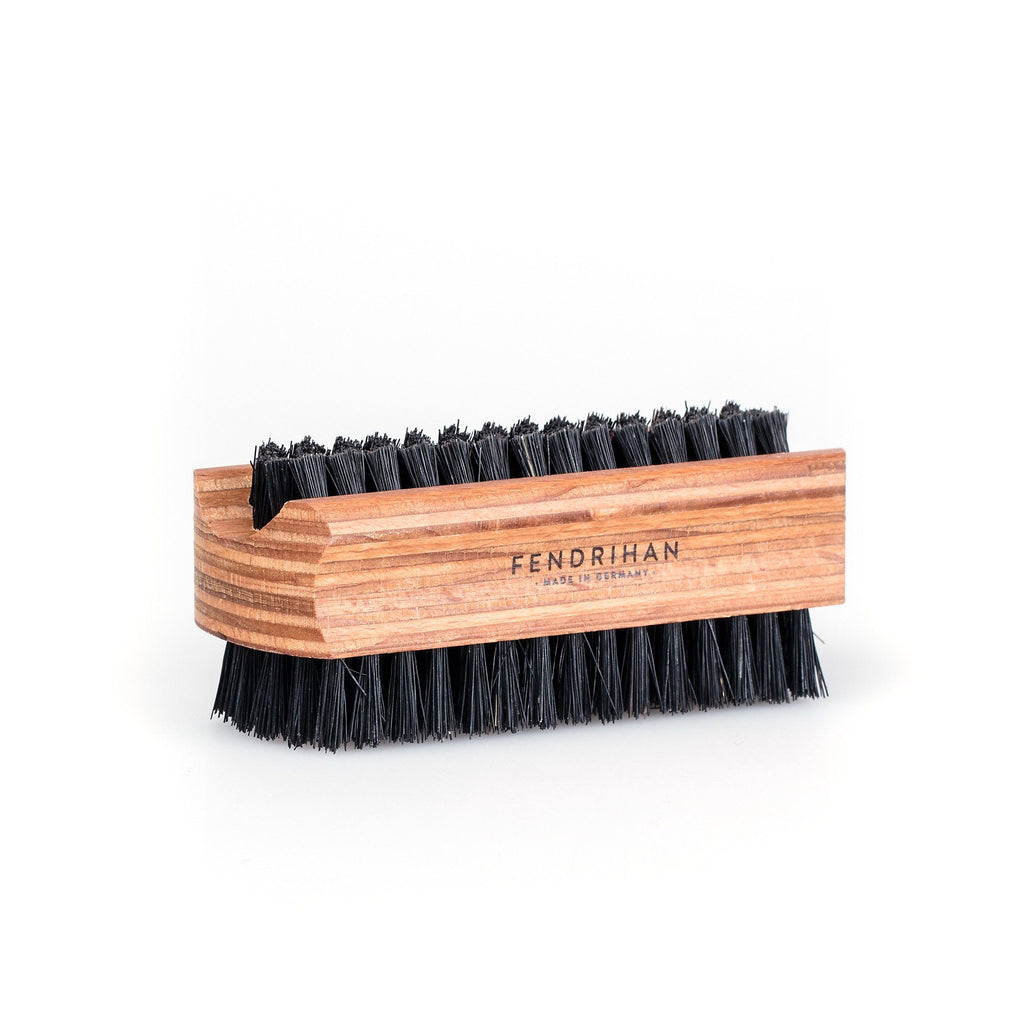 Fendrihan Dual-Sided Nail Brush with Pure or Sisal Bristles - Made in Germany Nail Brush Fendrihan Black