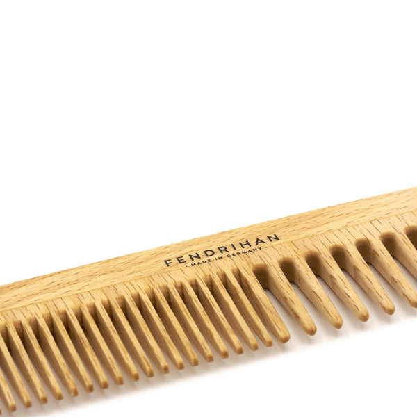 Fendrihan Beechwood Men's Comb with Rounded Teeth - Made in Germany - Fendrihan Canada - 4