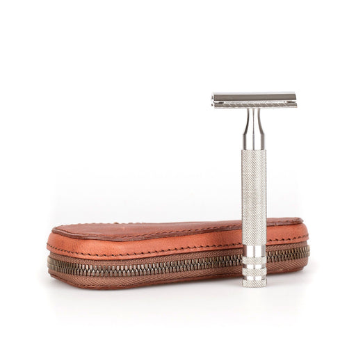 Fendrihan Leather Zip Safety Razor Case by Ruitertassen and Fendrihan Stainless Steel Razor, Save $10