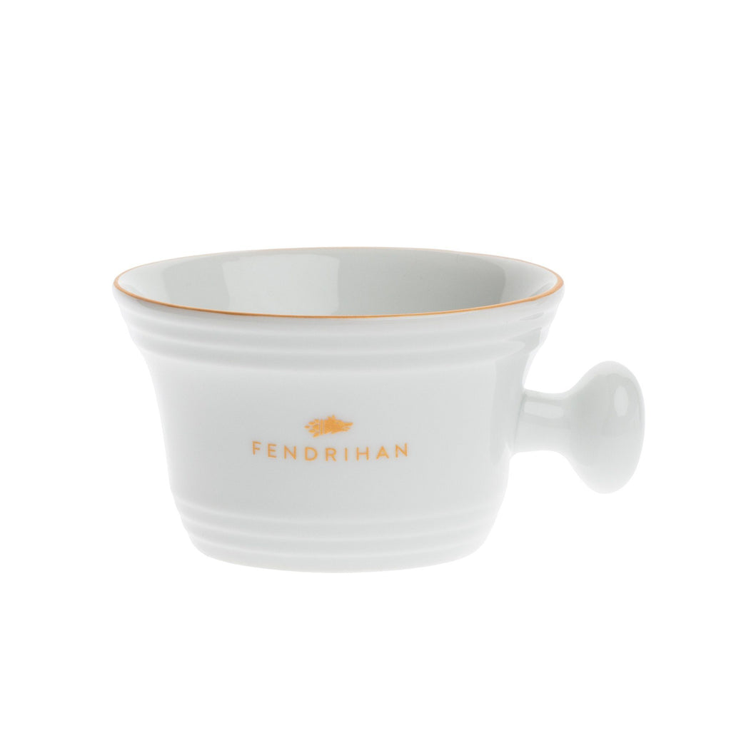 Fendrihan Porcelain Shaving Mug, Hand-Painted Rim Shaving Mug Fendrihan Golden