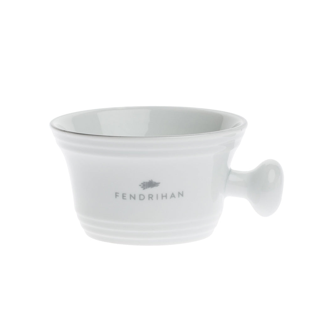 Fendrihan Porcelain Shaving Mug, Hand-Painted Rim Shaving Mug Fendrihan Grey
