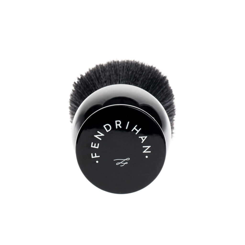 Fendrihan Black and White Synthetic Shaving Brush, Resin Handle Synthetic Bristles Shaving Brush Fendrihan