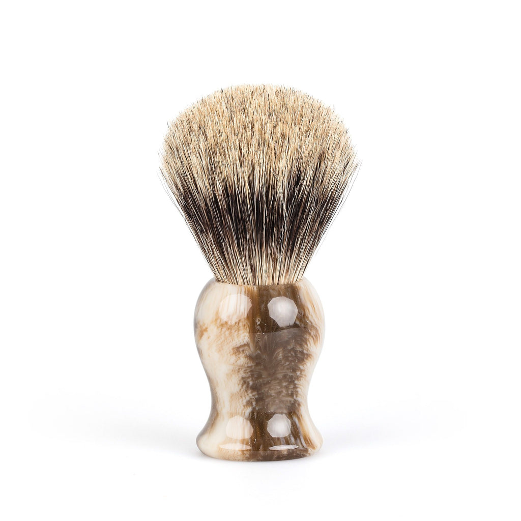 Fendrihan Classic Pure Grey Badger Shaving Brush Badger Bristles Shaving Brush Fendrihan Faux Horn