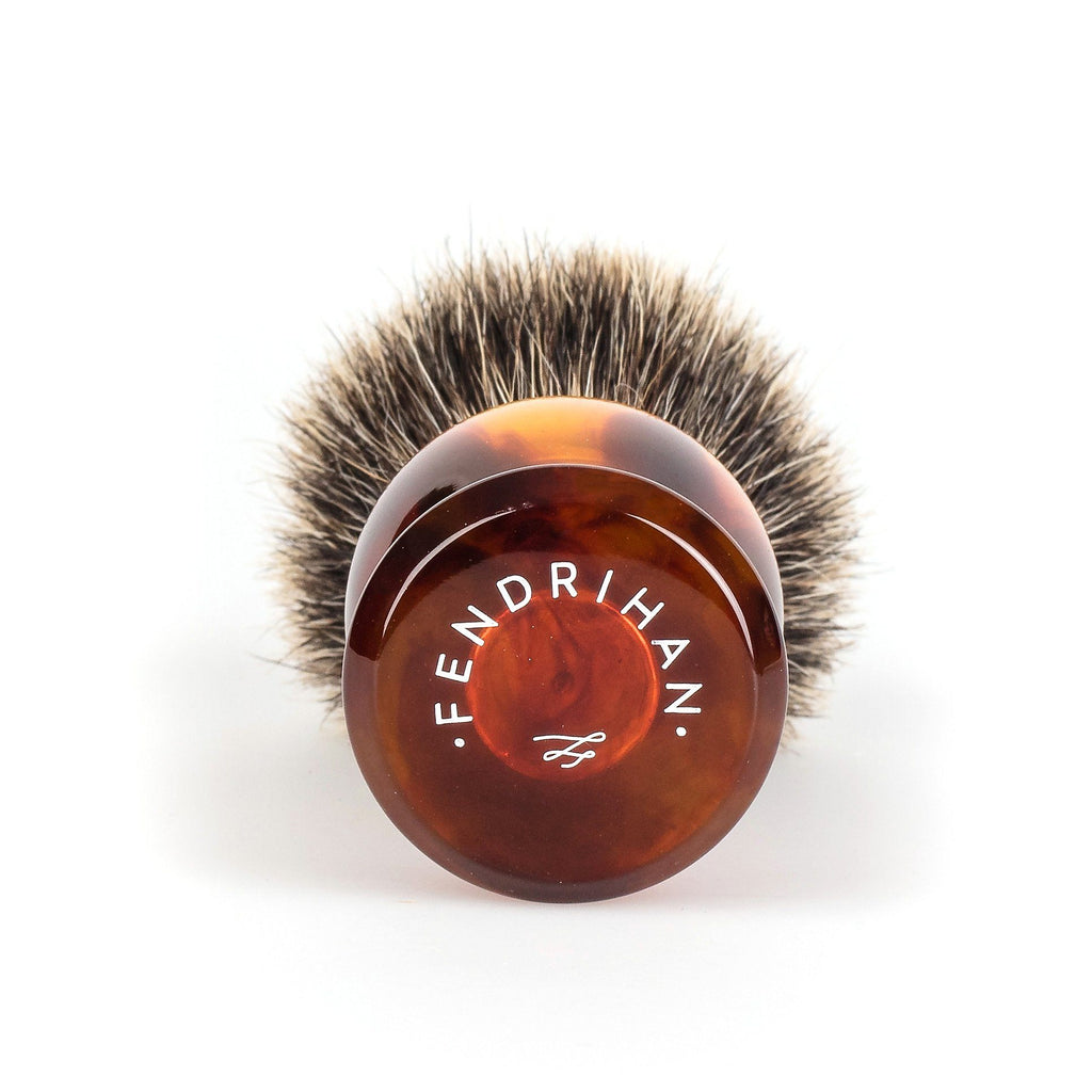 Fendrihan Classic Pure Grey Badger Shaving Brush Badger Bristles Shaving Brush Fendrihan