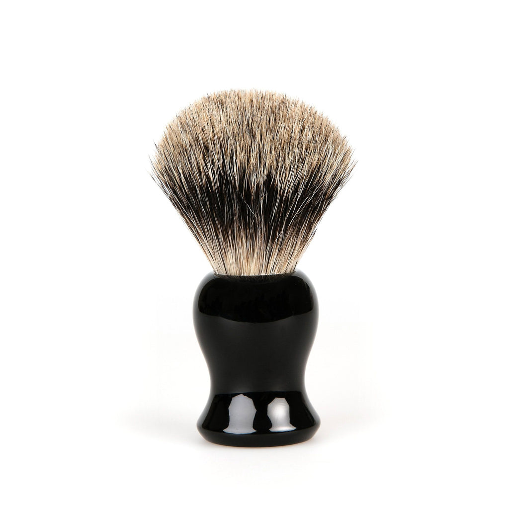 Fendrihan Classic Pure Grey Badger Shaving Brush & Metal Stand Badger Bristles Shaving Brush Fendrihan