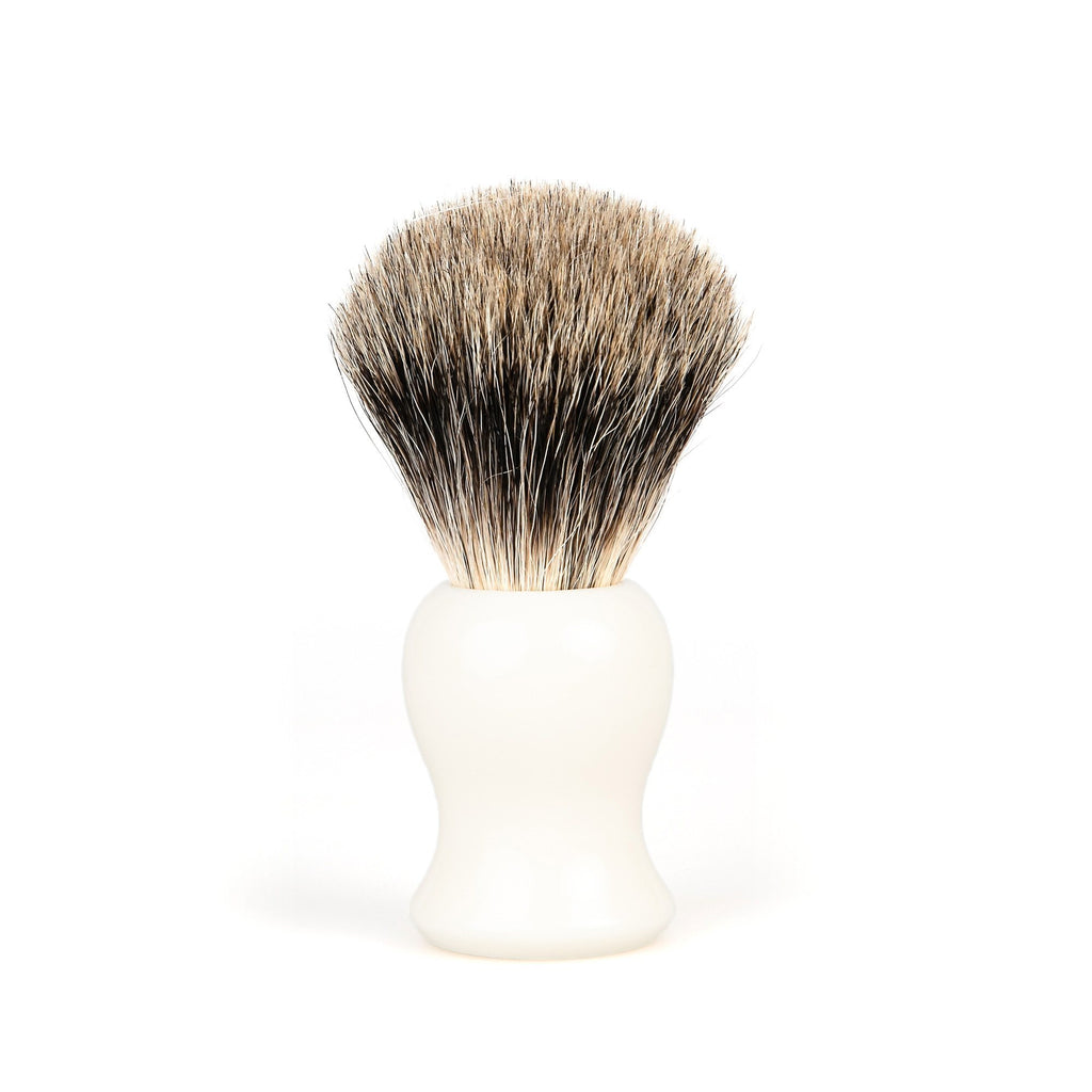 Fendrihan Classic Pure Grey Badger Shaving Brush Badger Bristles Shaving Brush Fendrihan White