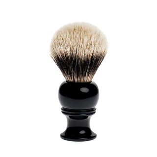 Fendrihan 2-Band Silvertip Badger Shaving Brush, Black Handle Badger Bristles Shaving Brush Fendrihan