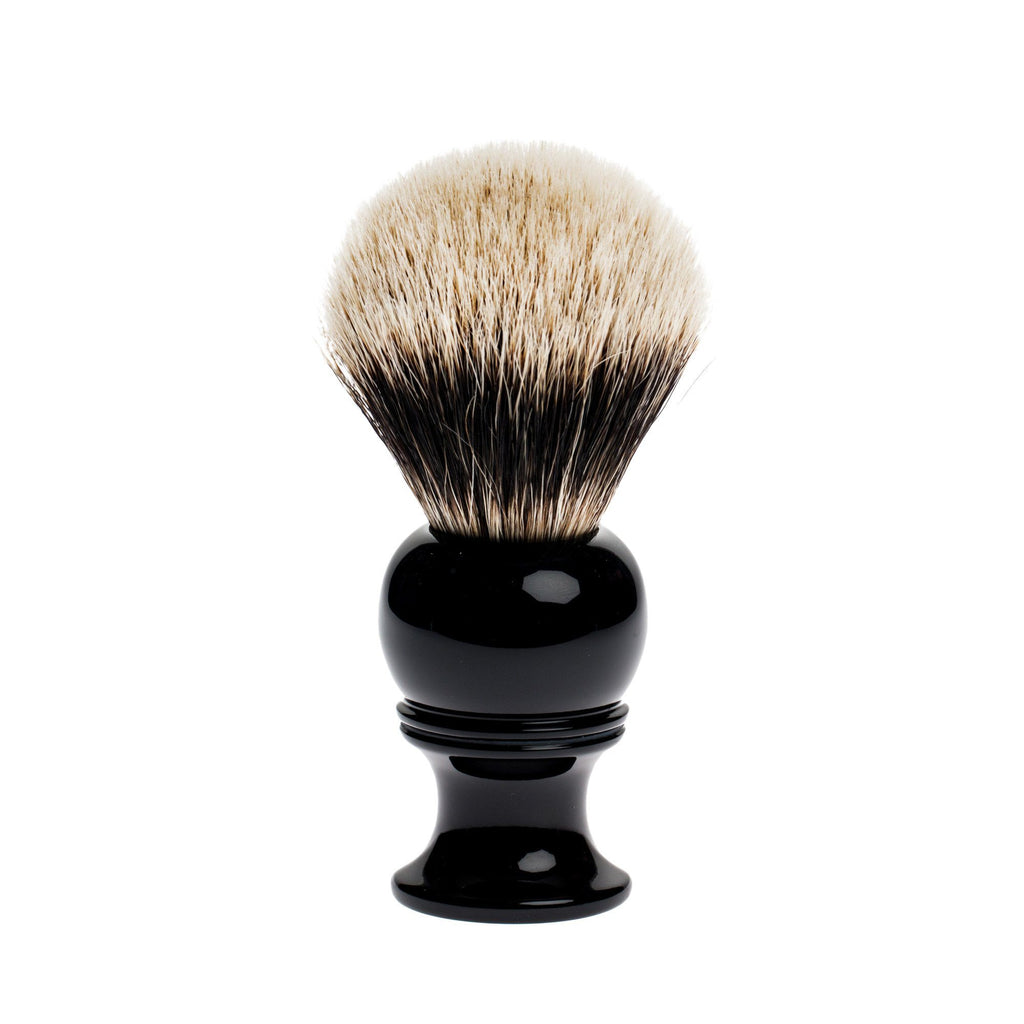 Fendrihan 2-Band Silvertip Badger Shaving Brush, Black Handle