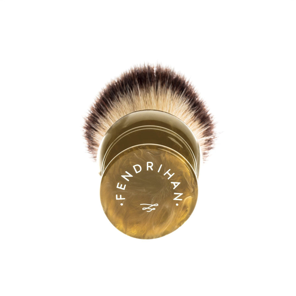 Fendrihan Synthetic Shaving Brush, Resin Handle Synthetic Bristles Shaving Brush Fendrihan