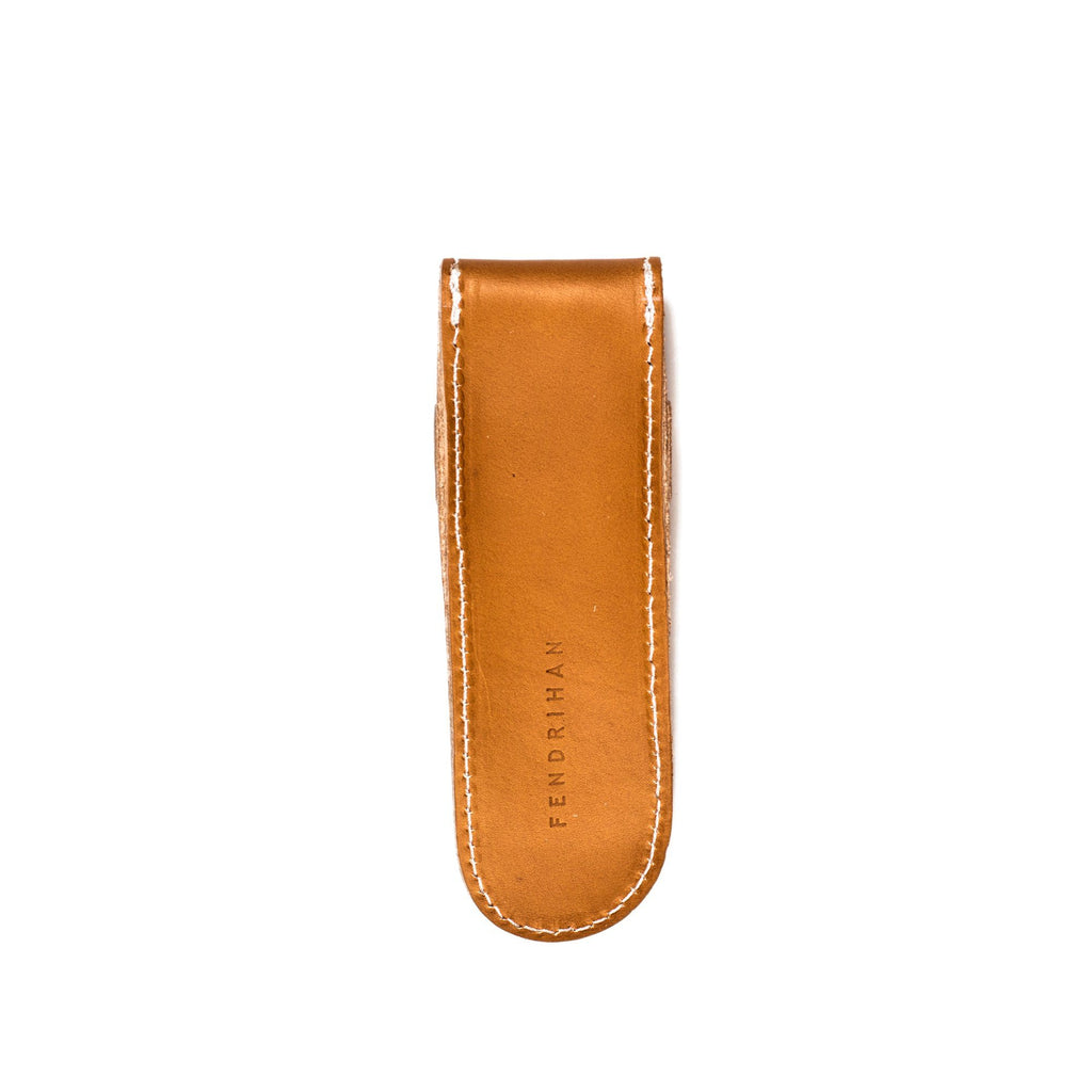 Fendrihan Tan Natural Leather Case for Straight Razor