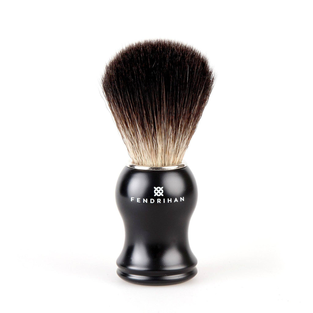 Fendrihan Black Synthetic Shaving Brush Synthetic Bristles Shaving Brush Fendrihan