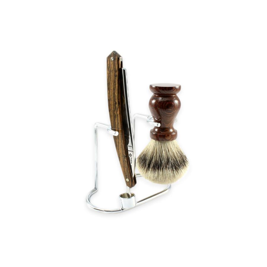 Nickel-Plated Stand for Straight Razor & Shaving Brush Shaving Stand Fendrihan