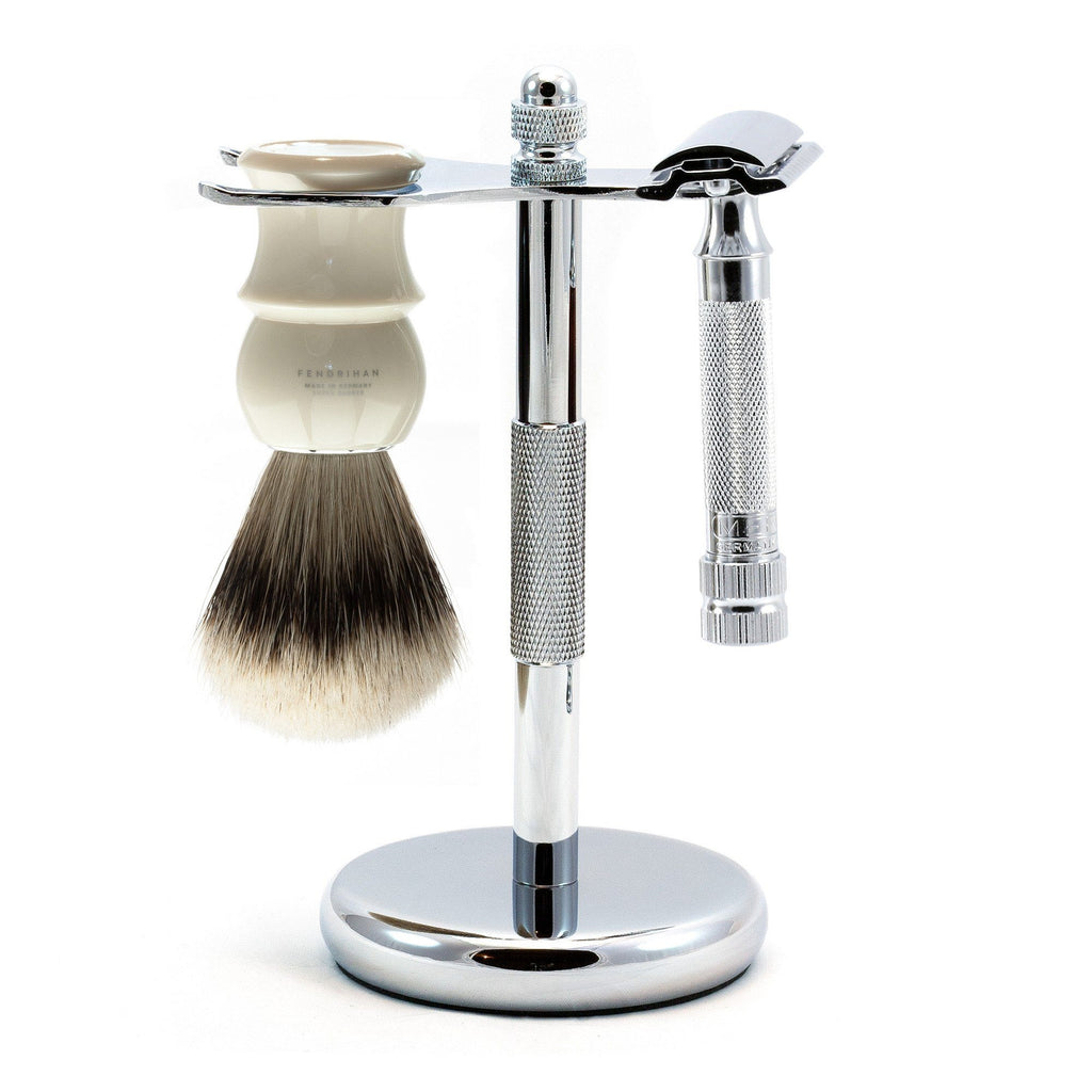 Merkur 34C HD 3-Piece Classic Wet-Shaving Kit, Save $25 Shaving Kit Fendrihan Ivory