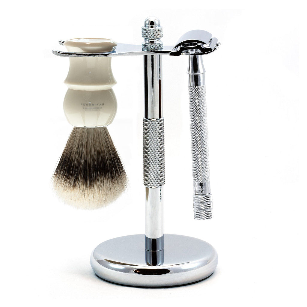 Merkur 23C Long-Handle 3-Piece Classic Wet-Shaving Kit, Save $25 Shaving Kit Fendrihan Ivory
