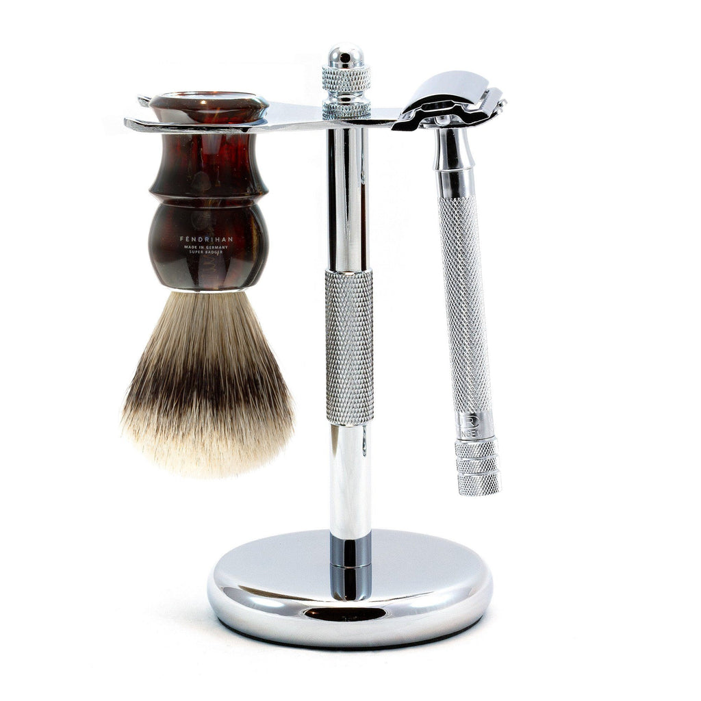 Merkur 23C Long-Handle 3-Piece Classic Wet-Shaving Kit, Save $25 Shaving Kit Fendrihan Tortoise