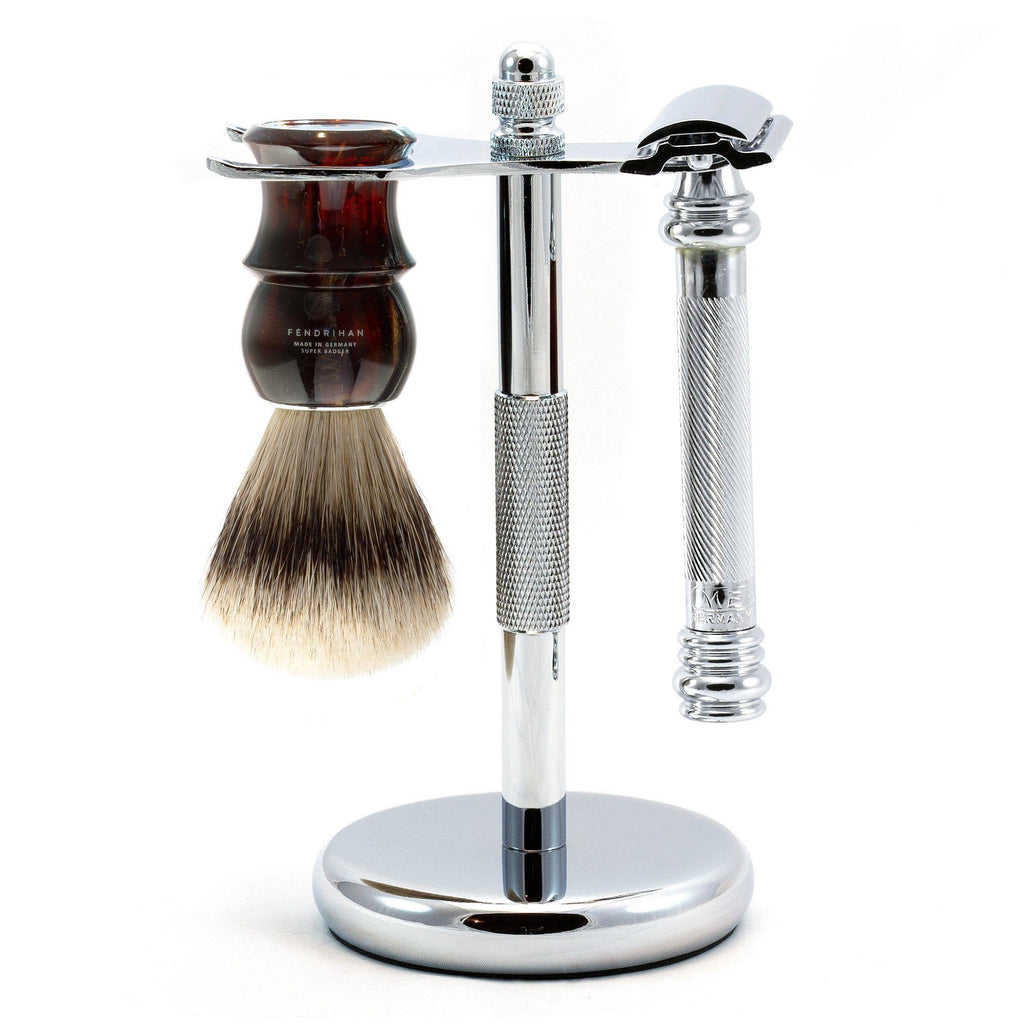 Merkur 38C Barber-Pole 3-Piece Classic Wet-Shaving Kit, Save $15 Shaving Kit Fendrihan Tortoise