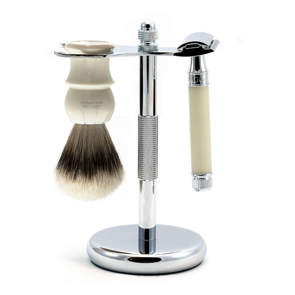 3-Piece Classic Wet-Shaving Set w Edwin Jagger Razor, Save $15 - Fendrihan Canada - 2