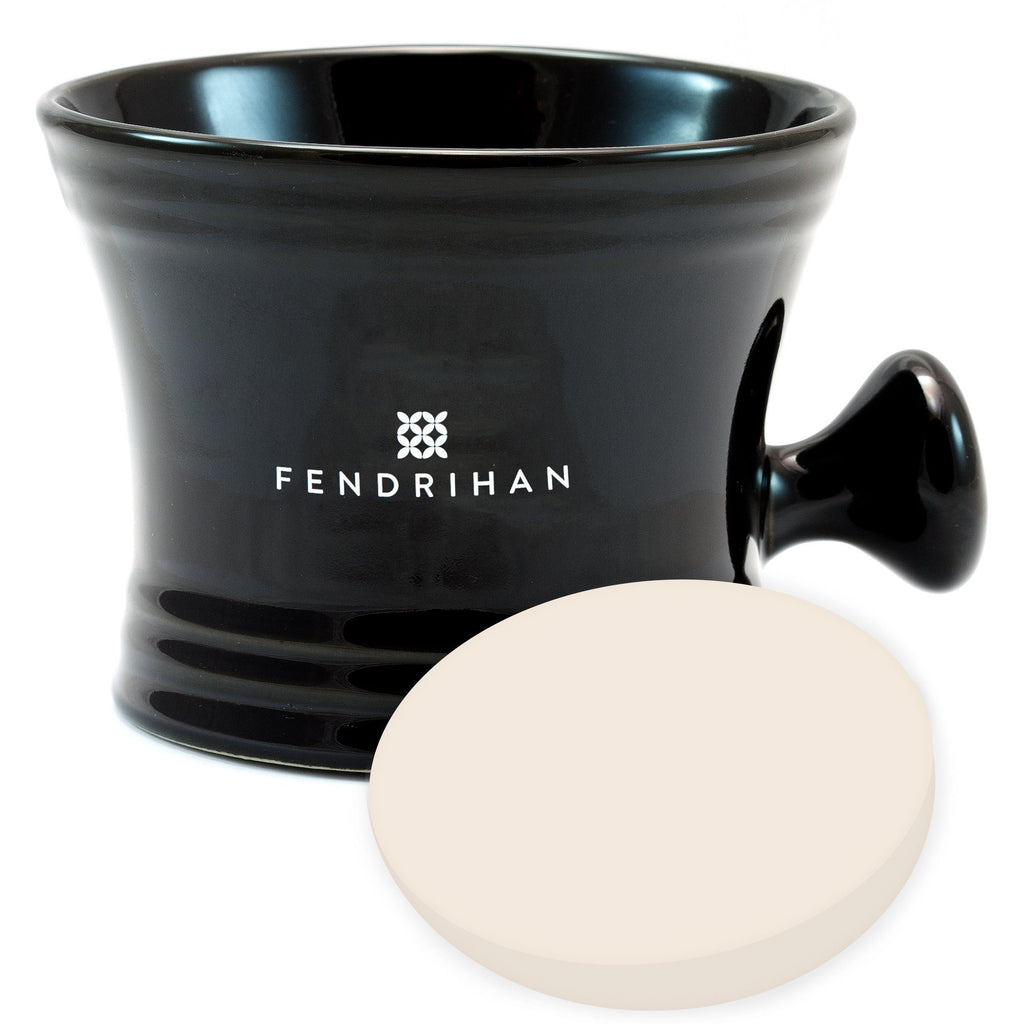 Large Apothecary Shaving Mug + Taylor of Old Bond Street Shaving Soap, Save $5 Shaving Mug Fendrihan Black Sandalwood