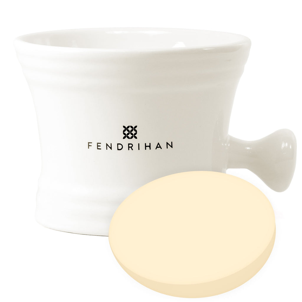 Large Apothecary Shaving Mug + Taylor of Old Bond Street Shaving Soap, Save $5 Shaving Mug Fendrihan White Sandalwood