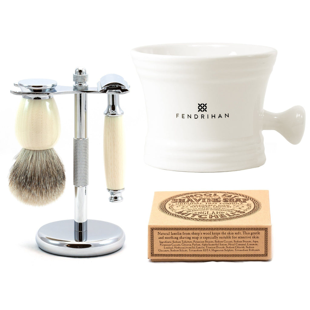 """Eglinton"" 5-Piece Classic Wet-Shaving Kit with Safety Razor, Save $20 Shaving Kit Fendrihan"
