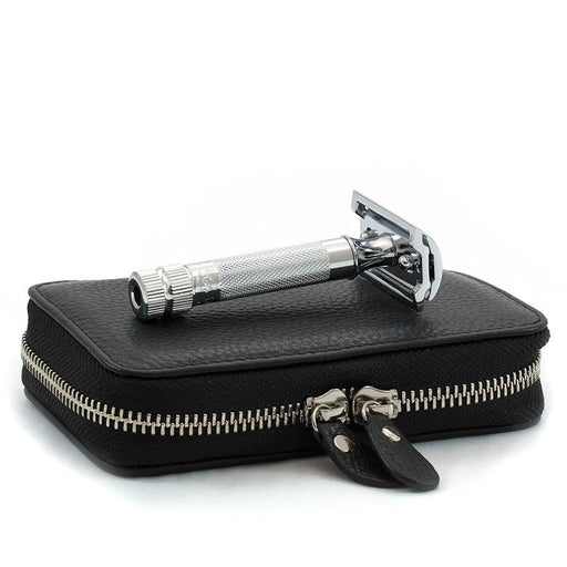 Merkur Safety Razor Set with Pebbled Leather Case, Save $10 - Fendrihan Canada - 1