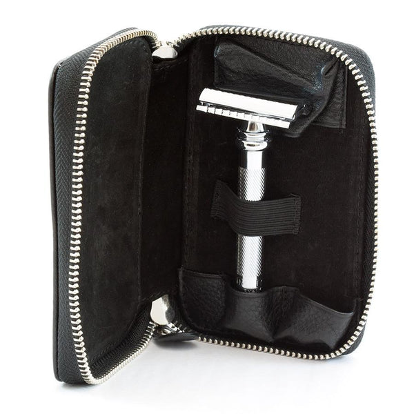 Merkur Safety Razor Set with Pebbled Leather Case, Save $10 - Fendrihan Canada - 4