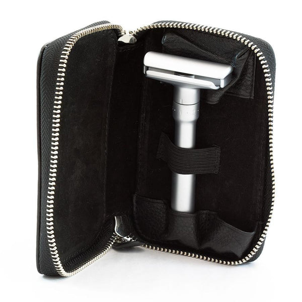 Merkur Safety Razor Set with Pebbled Leather Case, Save $10 - Fendrihan Canada - 5