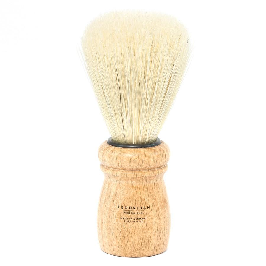 Fendrihan Professional Boar Bristle Shaving Brush, Beech Wood Handle Boar Bristles Shaving Brush Fendrihan