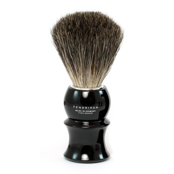 Fendrihan Pure Badger Shaving Brush with Stand, Black Handle - Fendrihan Canada - 2