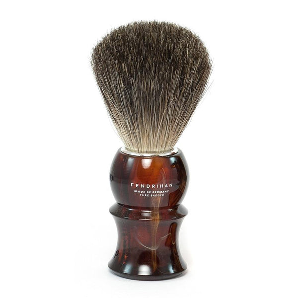 Fendrihan Pure Badger Shaving Brush with Stand, Faux Tortoise Handle - Fendrihan Canada - 2