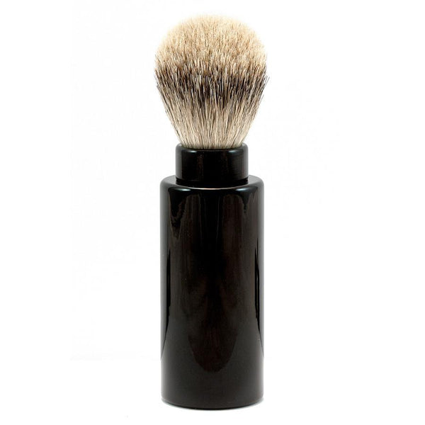 Silvertip Badger Hair Turnback Travel Shaving Brush, Black - Fendrihan Canada - 1