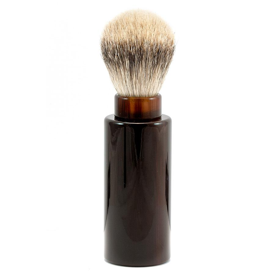 Silvertip Badger Hair Turnback Travel Shaving Brush Badger Bristles Shaving Brush Fendrihan Faux Tortoise