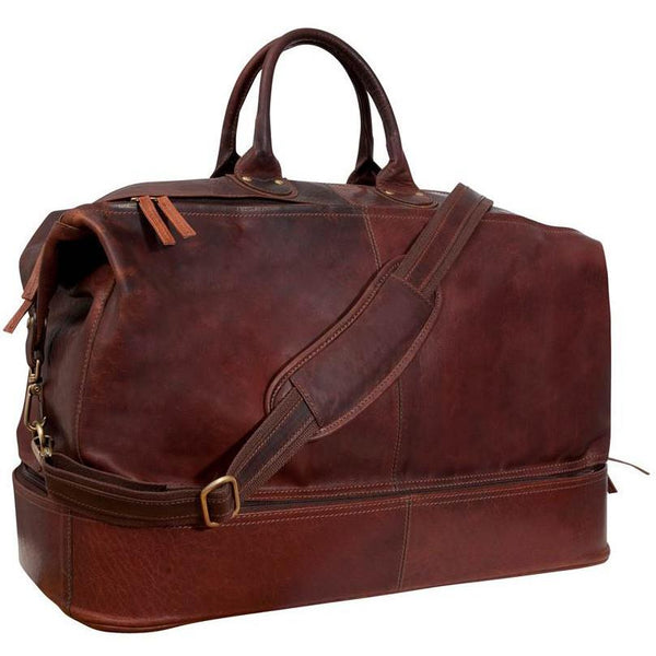 Fendrihan Arizona Aged Leather Travel Bag, Brandy - Fendrihan Canada - 1